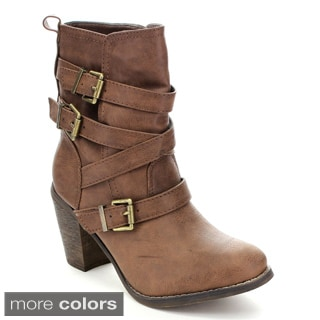 Fashion Focus Jacky-2 Women's Pull-on Western Mid-Calf Boots
