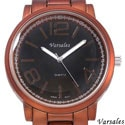 Varsales Men's V4996-1 Brown Stainless Steel Quartz Watch