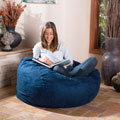 Christopher Knight Home Lillian Faux Suede 4-foot Lounge Beanbag Chair