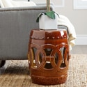 Abbyson Living Moroccan Brown Ceramic Garden Stool
