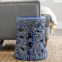 ABBYSON LIVING Osla Antique Blue Ceramic Garden Stool