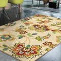 Indoor/ Outdoor Promise Collection Wakeley White Olefin Indoor/Outdoor Area Rug (5'2