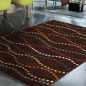 Promise Collection Starleen Brown Olefin Indoor/Outdoor Area Rug (7'8