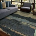 Euphoria Collection Cabell Gray Blue Olefin Area Rug (5'3