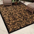 Indoor/ Outdoor Napa Collection Stormie Black Indoor/ Outdoor Olefin Area Rug (5'2 x 7'6)