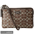 Coach Signature Small L Zip Wristlet in Coated Canvas