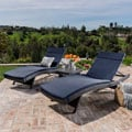 Christopher Knight Home Luana Outdoor 3-piece Wicker Adjustable Chaise Lounge Set with Cushions