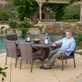 Christopher Knight Home Blakely Outdoor 7-piece Wicker Dining Set