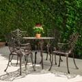 Christopher Knight Home Lauren Outdoor 5-piece Cast Aluminum Dining Set