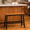 Christopher Knight Home Pomeroy Saddle Wood Counter Dining Bench