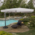 Christopher Knight Home Catalina Outdoor Yuma Folding Aluminum 11.5 ft. Canopy Umbrella with Base