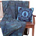 Vivid Blue Quilt/ Pillowcase Set (Guatemala)