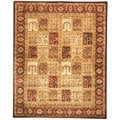 Handmade Classic Mashad Multicolor Wool Rug (7&#39;9 x 9&#39;6)