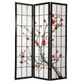 Spruce Wood and Rice Paper Cherry Blossom Shoji Screen (China)