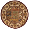 Handmade Classic Bakhtieri Multicolored Wool Rug (3&#39;6 Round)