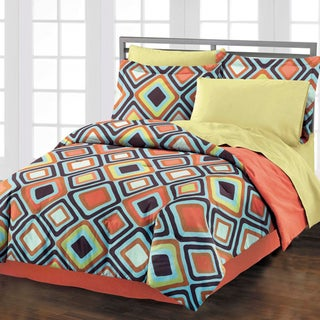 Diamond 4-piece Comforter Set with Bedskirt