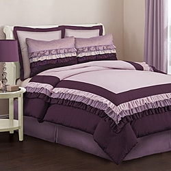 Lush Decor Starlet Purple 4-Piece Full-size Comforter Set