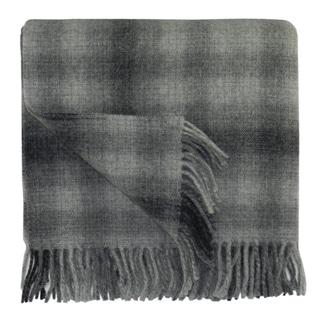 Bocasa Karo Grey Woven Wool Blanket