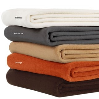 Bocasa Natural Woven Microfiber Throw Blanket