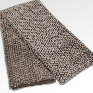 Harlow Plush 50x60-inch Brown Throw