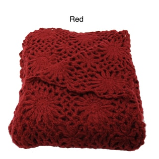 Helen Crochet Floral Throw