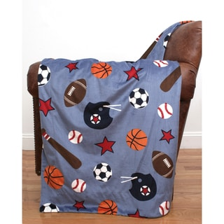 Kids Sports Microplush 44x60-inch Throw
