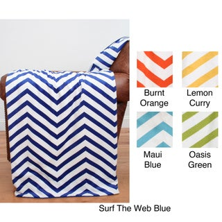 Large Chevron 50 x 60 Microplush Throw