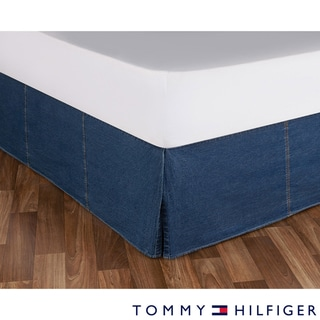 Tommy Hilfiger All American Cotton Denim Bedskirt