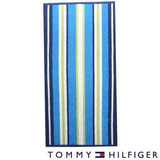 Tommy Hilfiger Fun Stripe Blue Cotton Beach Towel