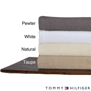 Tommy Hilfiger Herringbone Cotton Blanket