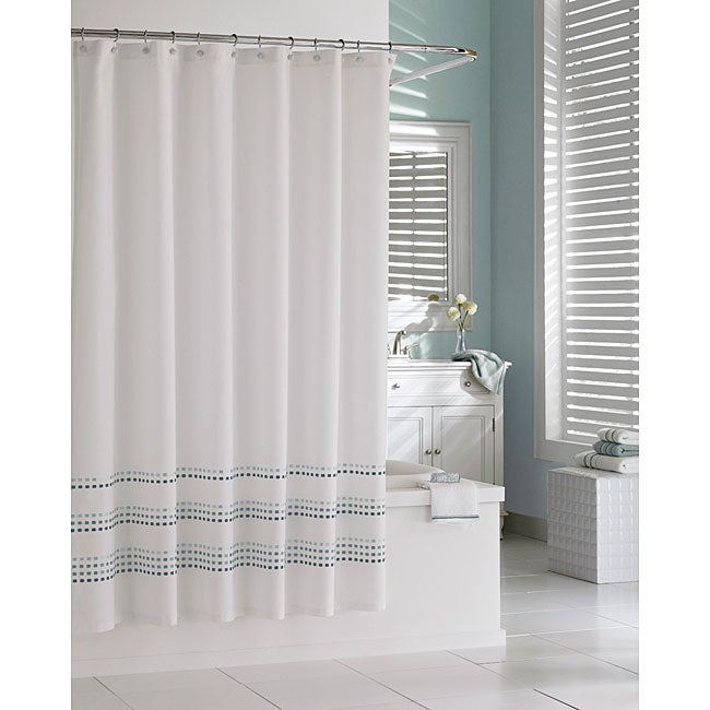Tribeka Cotton Seafoam Shower Curtain
