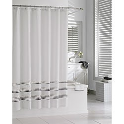 Tribeka Cotton Stone Shower Curtain