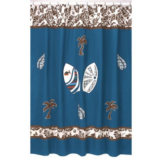 Tropical Hawaiian Blue Shower Curtain