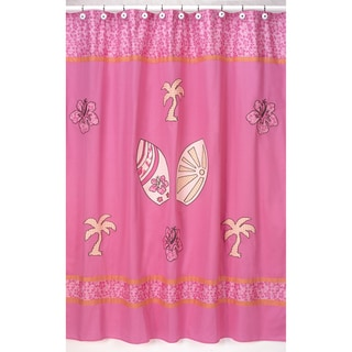Sweet Jojo Designs Tropical Hawaiian Pink Shower Curtain