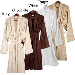 Turkish 100 Percent Organic Cotton Terry Cuffed Spa Robe with Belt