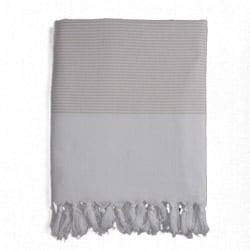 Turkish Cotton Cream Striped Fouta Towel