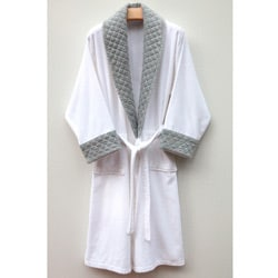 Ultra Plush Authentic Hotel and Spa Unisex Grey Bath Robe