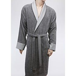 Unisex Authentic Hotel and Spa Turkish Spun Cotton Grey Bath Robe