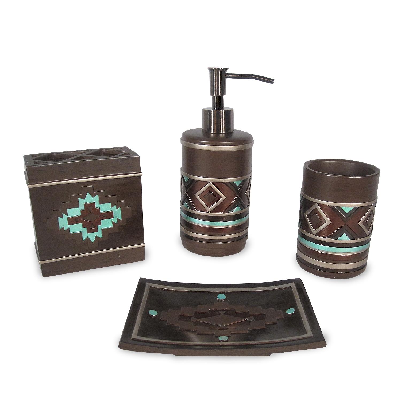 Veratex pueblo bath accessory 4 piece set overstock for Best bathroom accessory sets