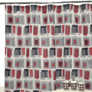 Watercolor Geo Shower Curtain and Bath Accessory 16-piece Set