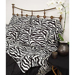 Wild Life Black Zebra 3-piece Twin-size Comforter Set
