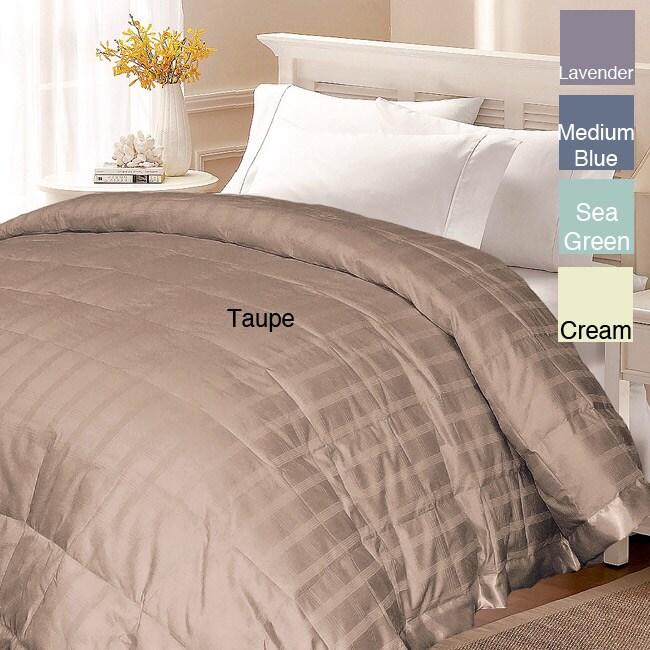 Windowpane 300 Thread Count Cotton White Down Blanket