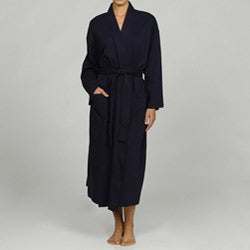 Women's Navy Organic Cotton Bath Robe