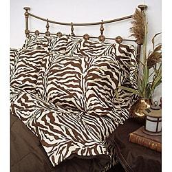 Zebra Brown Safari 300 Thread Count Pillowcases (Set of 2)