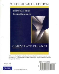 Corporate Finance: Student Value Edition (Other book format)