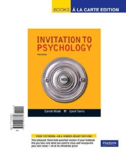 Invitation to Psychology: Books a La Carte Edition (Other book format)