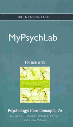 Psychology Mypsychlab Access Code: Core Concepts (Other merchandise)