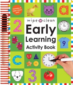 Wipe Clean Early Learning Activity Book (Spiral bound)
