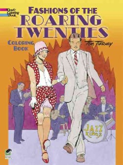 Fashions of the Roaring Twenties Coloring Book (Paperback)