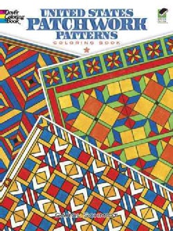 United States Patchwork Patterns Coloring Book (Paperback)